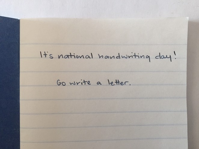 go write a letter